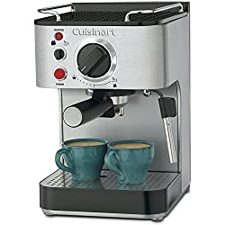 Cuisinart EM-100 1000-Watt 15-Bar Espresso Maker, Stainless Steel (Certified Refurbished) made by Cuisinart
