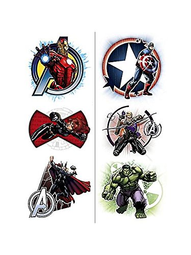 Avengers Temporary Tattoos (2 Pack) - 1