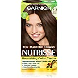 Garnier Hair Color Nutrisse Nourishing Color Creme, 413 Bronze Brown (Packaging May Vary)