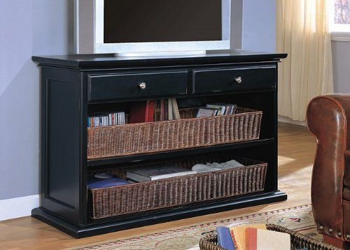 Cheap Distressed Black Wicker Basket TV Stand Console Table (VF_AZ00-7757×28380)
