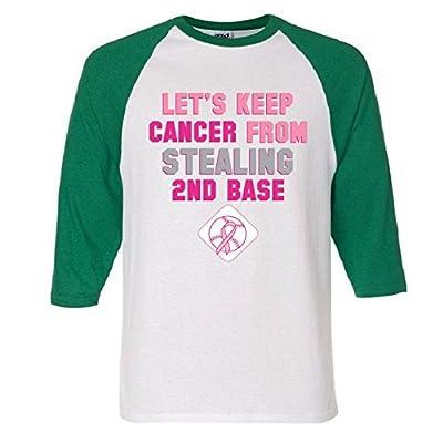 Let's Keep Cancer From Stealing 2nd Base Ribbon Raglan Baseball T-Shirt