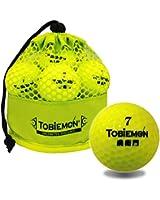 TOBIEMON(トビエモン) 飛衛門 公認球 2ピース構造ゴルフボール イエロー 12球(1ダース) メッシュバック入り TBM-2MBY TBM-2MBY