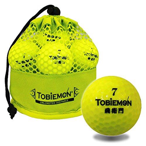 TOBIEMON (tbiemon) vuelan goemon certificado bola de golf estructura de 2 piezas amarillo 12 bolas (1 docena) malla en tuneladora TBM-2MBY-2MBY