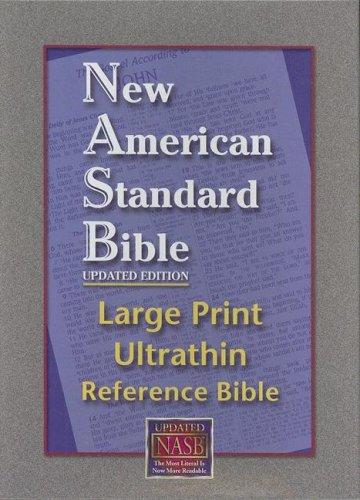 NASB Large Print Ultrathin Reference Bible (Black, Bonded Leather)