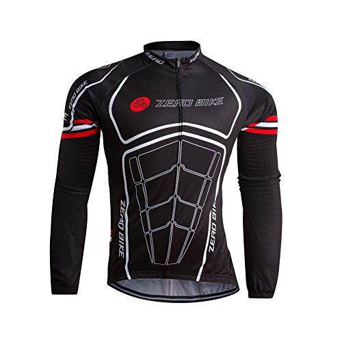 ZEROBIKE® bici Maglia Manica lunga da uomo da ciclismo extra comodo Super caldo Castelli maglie biciclette Abbigliamento Ciclismo manica lunga Abbigliamento casual