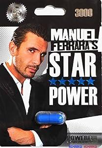 6 Packs Manuel Ferrara's Star Power 3000 Porn Star Sexual Enhancer Pill