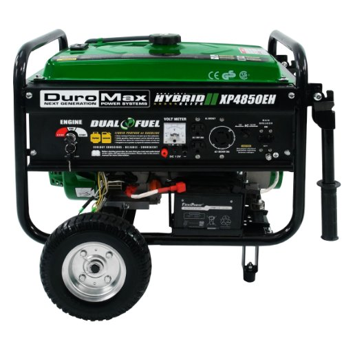 Duromax XP4850EH 3850 Running Watts/4850 Starting Watts Dual Fuel Electric Start Portable Generator (Champion Generator Dual Fuel compare prices)