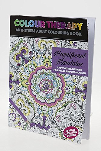 2 nd Gen Magnificent Mandala Art Colour Therapy per adulti, 64 pagine da colorare