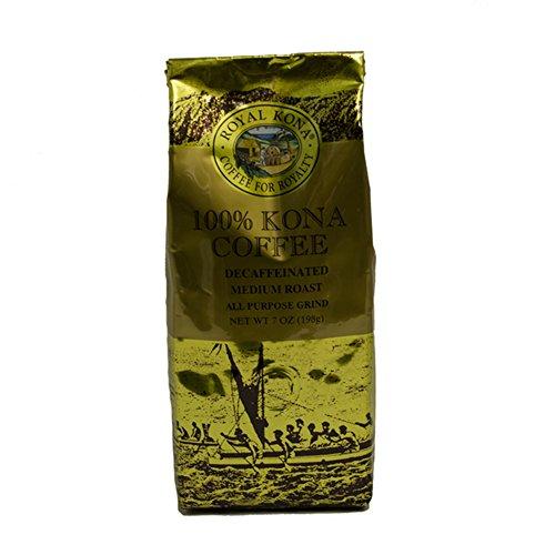 Royal Kona 100% Kona Coffee, Decaf, Medium Roast, Ground, 0.44 Pound