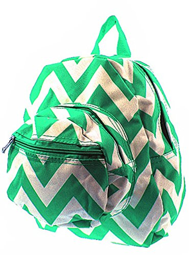 Chevron Small Kids Backpack Toddler Bag Purse (Dark Green)