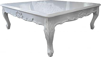 Casa Padrino Barock Couchtisch Weiß 104 x 104 cm - Couchtisch - Wohnzimmer Tisch - Limited Edition