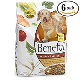 Beneful Healthy Harvest Dry Dog Food, 3.5-Pound Bags (Pack of 6)