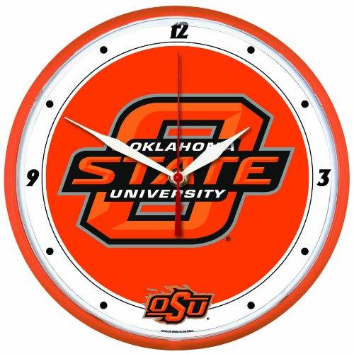 NCAA Oklahoma State Cowboys Round Clock