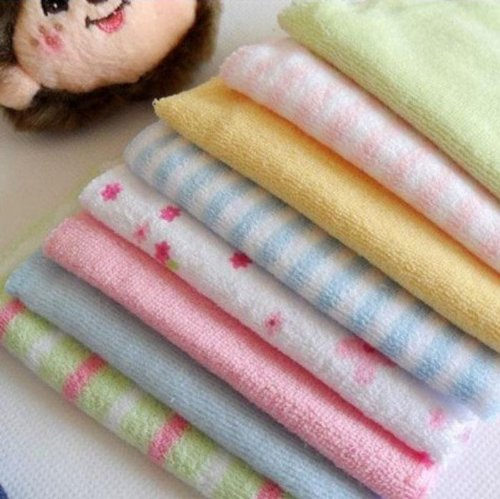 Xidaje Baby Hot Sale Face Washers Hand Towels Cotton Wipe Wash Cloth front-274405