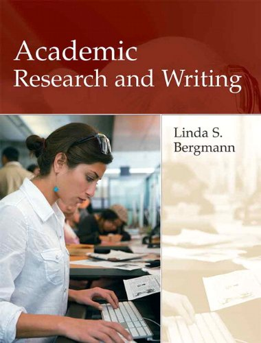 Academic Research and Writing: Inquiry and Argument in...