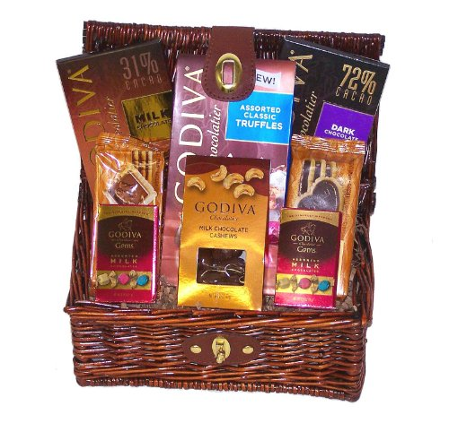 Godiva Chocolate Lovers Assorted Gourmet Gift Basket