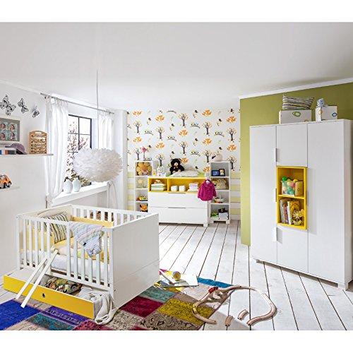 Babyzimmer Set »RISONU166Â« alpinweiß, gelb günstig kaufen