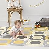 Skip Hop PlaySpot Foam Floor Mat, Gold/Grey