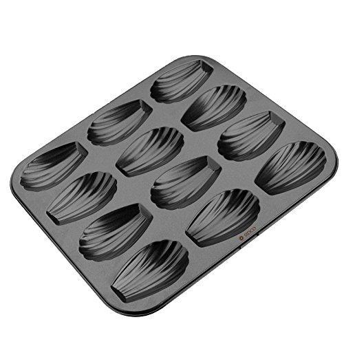 Zenker Non-Stick Carbon Steel Madeleine Pan, 12-Count