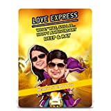 Love Express, Bollywood Theme Caricature Gift For Couple, Gift For Husband, Gift For Wife, Gift For Girlfriend...