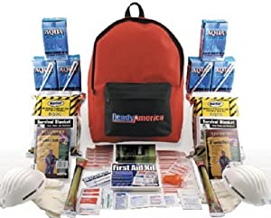 Quakehold! 70280 Grab-'n-Go Emergency Kit, 2-Person, 3-Day Backpack by Quakehold!