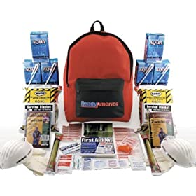Quakehold! 70280 Grab-n-Go Emergency Kit, 2-Person 3-Day Back Pack