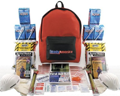 Quakehold! 70280 Grab-n-Go Emergency Kit, 2-Person, 3-Day Backpack