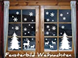 Snowflake themed window stickers