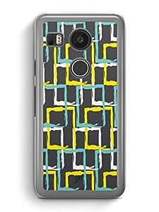 YuBingo Colourful rectangular patterns Designer Mobile Case Back Cover for Google Nexus 5X