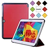 WAWO Samsung Galaxy Tab 4 10.1 Inch Tablet Smart Cover Creative Fold Case - Red
