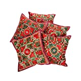 Rajrang Indian Cotton Cushion Cover Set Home Décor 16 By 16 Inches Set 5 Pcs - B00RQDPC2K