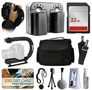 Deluxe Accessories Package for Nikon D5500 D5300 D5200 D5100 D3300 D3200 D3100 DSLR Digital Camera includes Hand/Wrist Strap + 2 Batteries + Dual Charger + 32GB Memory + xGrip Action Stabilizer + Case