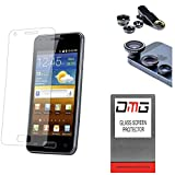 DMG Pack Of 3 Tempered Glass For HTC One M9 Plus + 3in1 Fisheye Wide Angle And Macro Lens