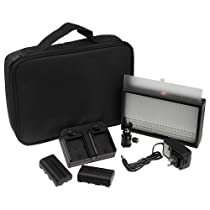Fotodiox FDX-LED-312DS, Professional 312 LED Dimmable and Bi-Color, Dual Color Adjustable Photo Video Light Kit (Black)