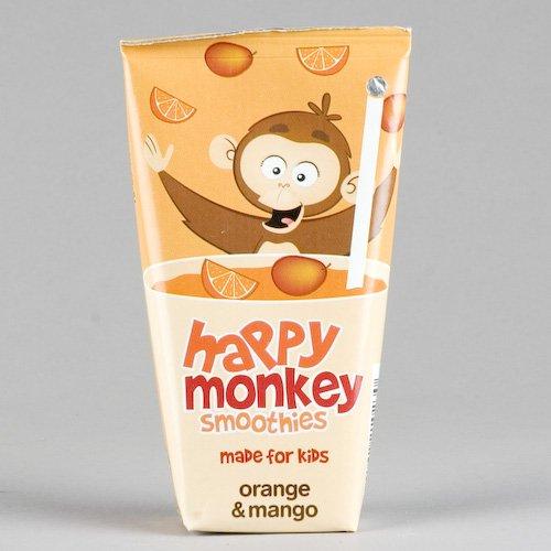 Happy Monkey H/Monkey Orange Mango Smoothie (4 X 180Ml) Gluten Free Vegan