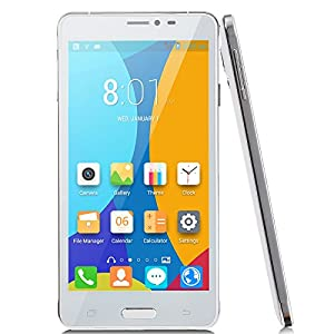 JIAKE V11 Smartphone Android 4.2 MTK6572W Dual Core 5.5 Inch QHD Screen512MB/4GB 5.0Mp Camera Tablet (White)