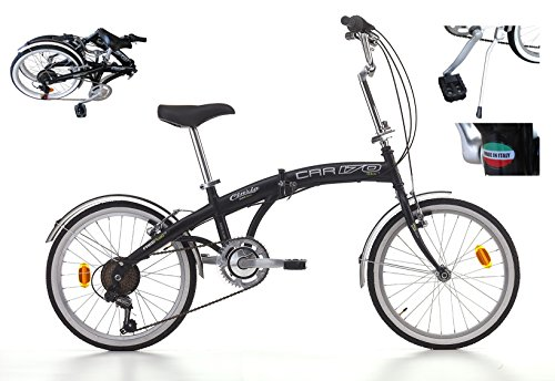 POLIRONESHOP Bici pieghevole cicli Cinzia made in Italy car 20 bicicletta trasportabile piegabile per trasporto in auto camper caravan corriera bus mezzi pubblici folding bike portatile x da città barca nave yacht