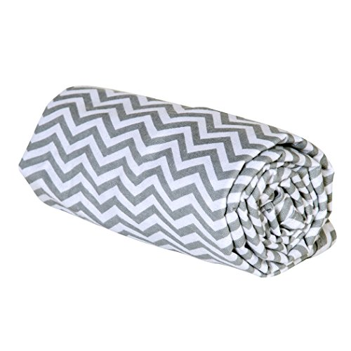 Trend Lab Swaddle Blanket, Gray Chevron
