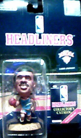 New York Knicks Larry Johnson Action Figure - 1996 Headliners NBA Basketball Series - 1