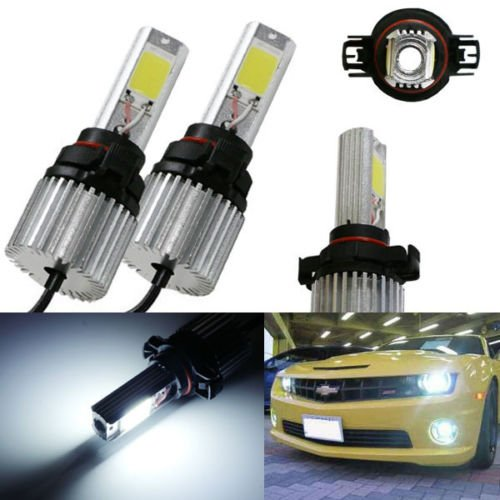 Ijdmtoy Hid Equivalent 20W High Power 5202 Psx24W H16 Led Bulbs Conversion Kit For Fog Lights