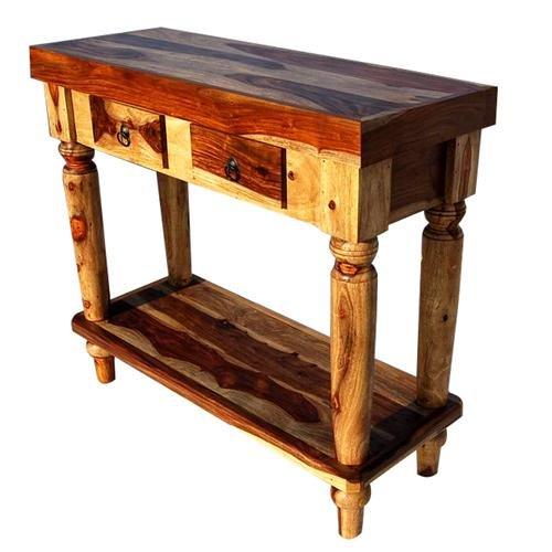 Cheap Indian Sheesham Wood 2 Storage Drawers Sofa Buffet Console Hall Table (B0013XU198)