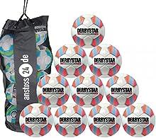 10 x DERBYSTAR Balones para jóvenes - JUNIOR S-LIGHT Gr. 5 Incl. Bola