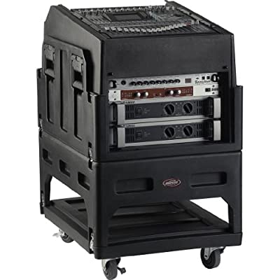 SKB Mighty Gig Rig with 14U top 6U Front Rack, Built-in Pedestal, Optional Rear Rack Rails