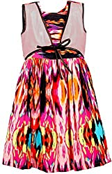 Euphoria Girls' Dress (SKU293F, Multi-Coloured, 4-5 Years)