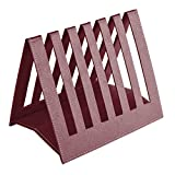 Eco friendly Ecoleatherette Handcrafted Magazine Holder, Magaizne Rack Newspaper Holder Newspaper Rack Table Top (Cherry)