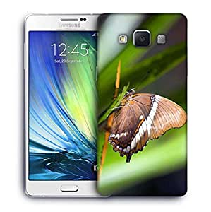 Snoogg Light Brown Butterfly Designer Protective Phone Back Case Cover For Samsung Galaxy ON5