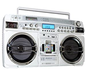 Old School Style High Performance Portable Music System with Ipod Slot