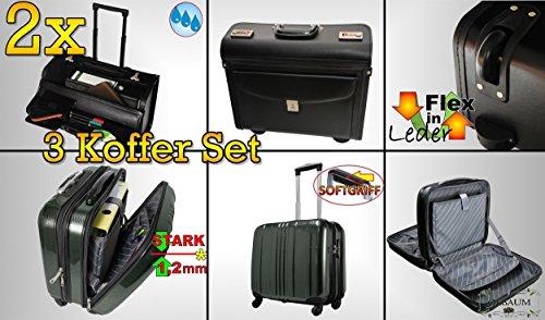 3 teilig wetterfester koffer pilotenkoffer reisekoffer. Black Bedroom Furniture Sets. Home Design Ideas