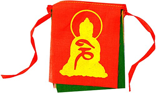 My Earth Store FL002(2) Universal Bike Tibetan Buddhist Prayer Mantra Flag  (Set of 2)
