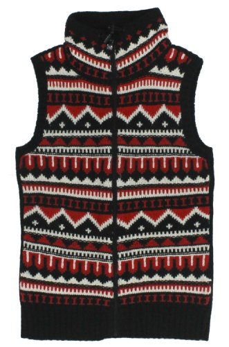 Lauren Active Women's Fair Isle Wool Sweater Vest (X-Large, Red Multi)